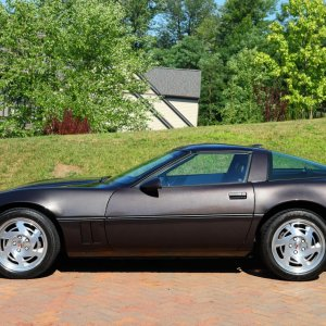 1990 Corvette Coupe in Charcoal Metallic