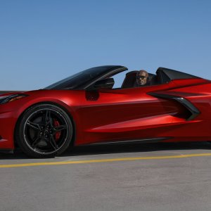 2021 Corvette in Red Mist Metallic - Marketing