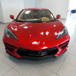 2021 Corvette Convertible in Red Mist and Natural Dipped Interior