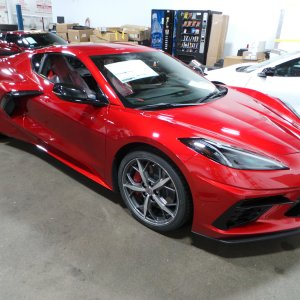2021 Corvette Stingray Coupe in Red Mist