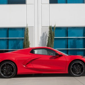 2020 Corvette Convertible in Torch Red