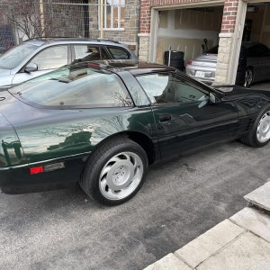1991 Corvette ZR-1 in Polo Green Metallic
