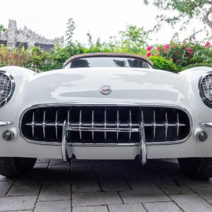 1954 Corvette in Polo White