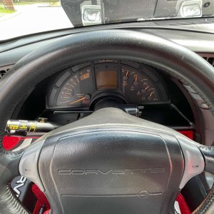 1991 Corvette ZR-1 in White with Red Interior