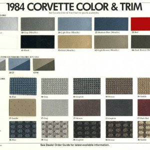 1984 Color Chart