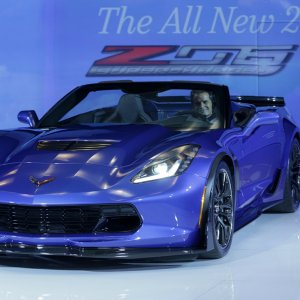 The 2015 Chevrolet Corvette Z06 Convertible is unveiled Tuesday, April 15,