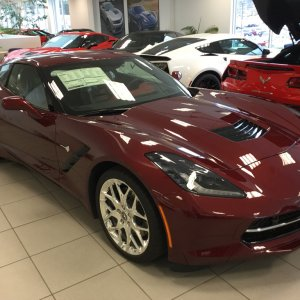 2016 Corvette 3LT in Long Beach Red